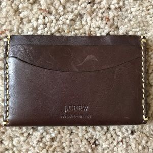 J,Crew Leather Card Holder